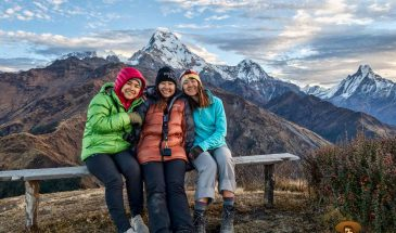 จุดชมวิว Muldai ของ SanookTiew Tours บนเส้นทาง Mohare + Khopra Trek